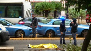 La scena del tragico incidente di Via Libertà