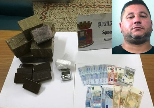 Droga: 9,2 kg hashish in casa, un arresto (video)